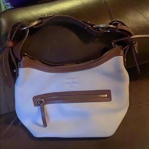 White/brown leather Dooney and Bourke purse